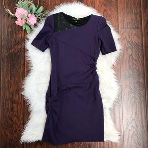 Cynthia Steffe Purple Side Ruched Mini Dress